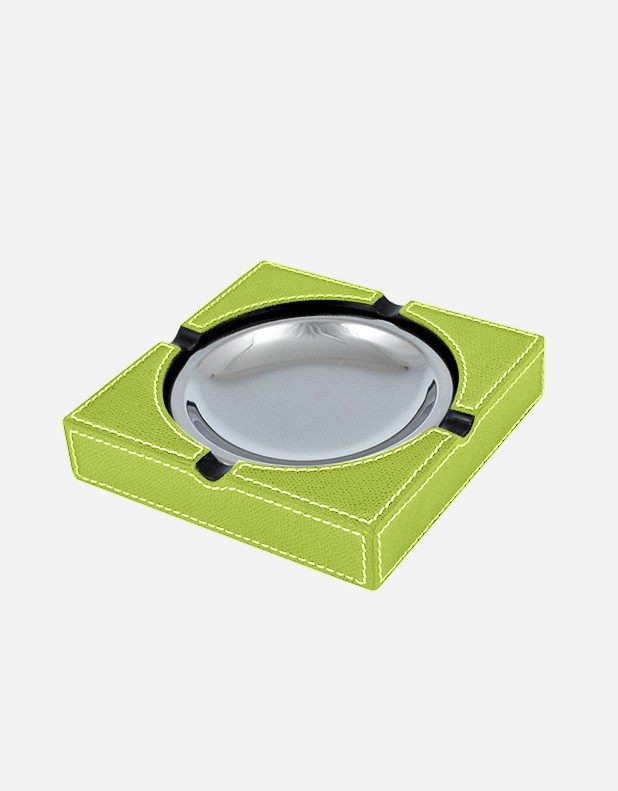 Leather Square Ashtray - Made in Italy