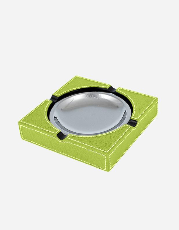 Posacenere Quadrato in Pelle - Prodotto in Italia