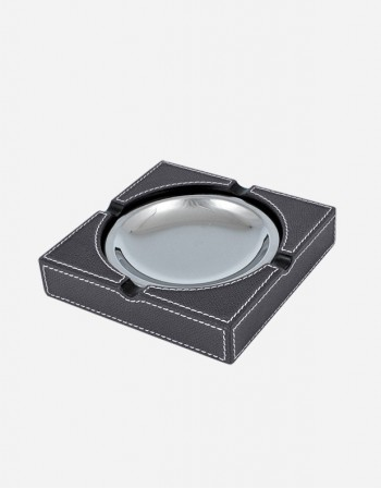 Leather Square Ashtray - Made in Italy - Giobagnara