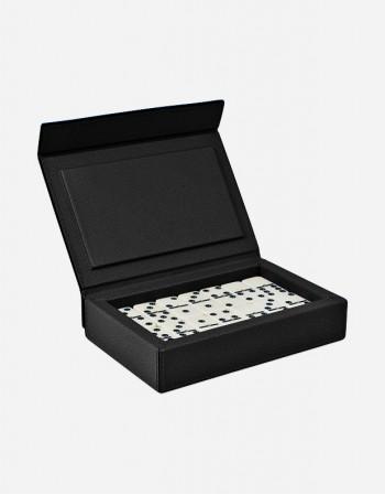Scatola da Domino in Pelle - Prodotto in Italia - Giobagnara