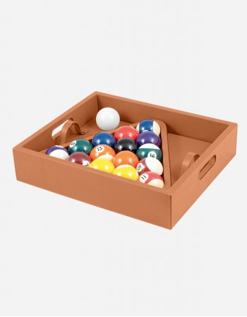 Leather Pool Ball Carrying Case - Made in Italy - Giobagnara