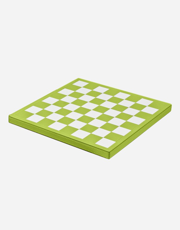 Leather Triple Game Box: Chess - Domino - Draughts - Made in Italy