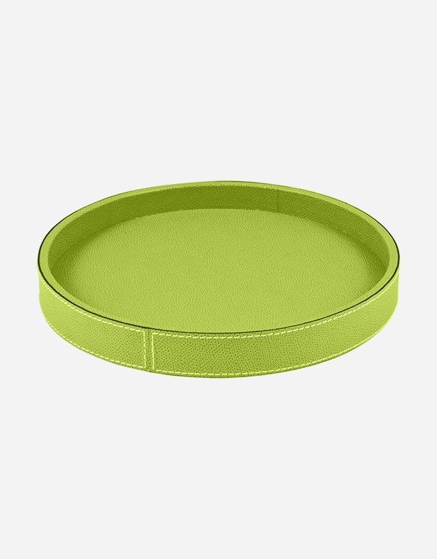 Leather Round Valet Tray - Made in Italy