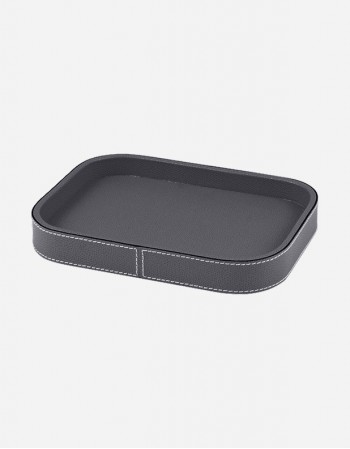 Leather Rectangular Valet Tray - Made in Italy