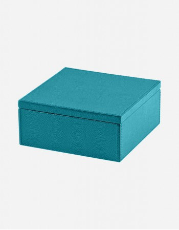 Leather Square Box - Made in Italy