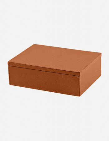 Leather Rectangular Box - Made in Italy