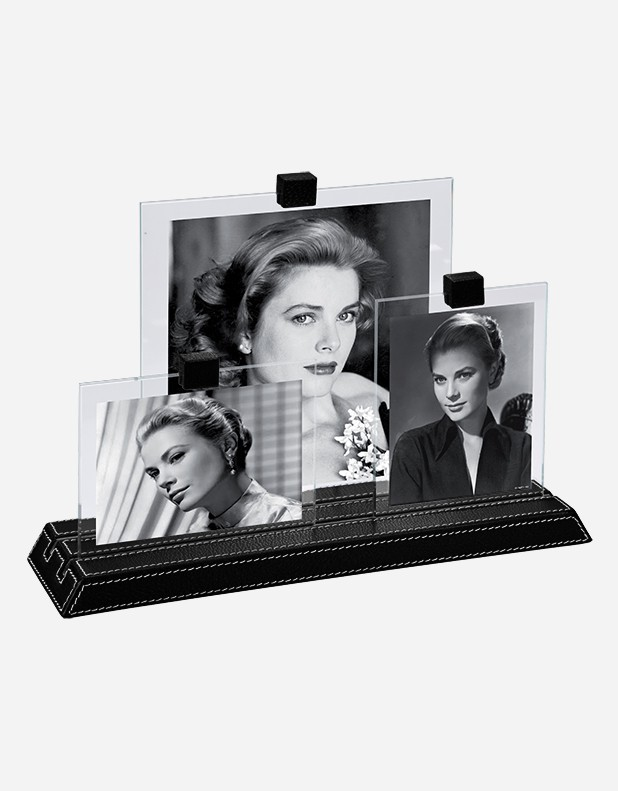 Leather Trio Picture Frame - Made in Italy