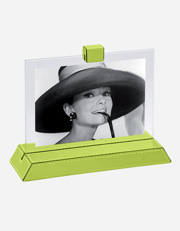 Leather Picture Frame with Base - Made in Italy