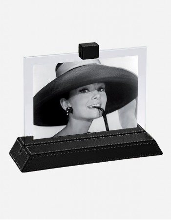Leather Photo Frame with Base - Made in Italy - Giobagnara