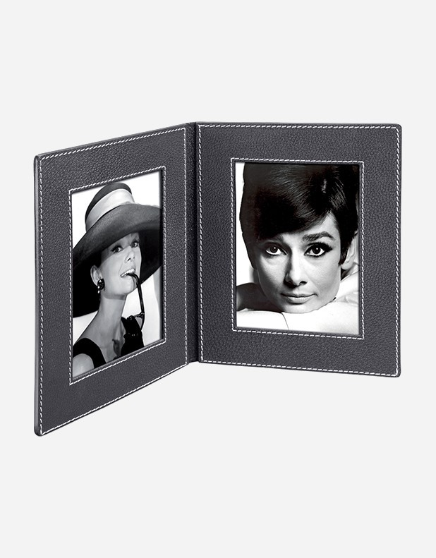 Leather Book Picture Frame Handmade In Italy Giobagnara