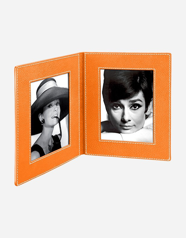 Leather Book Picture Frame - Made in Italy