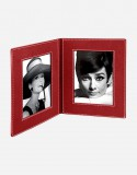 Leather Double Photo Frame - Made in Italy - Giobagnara