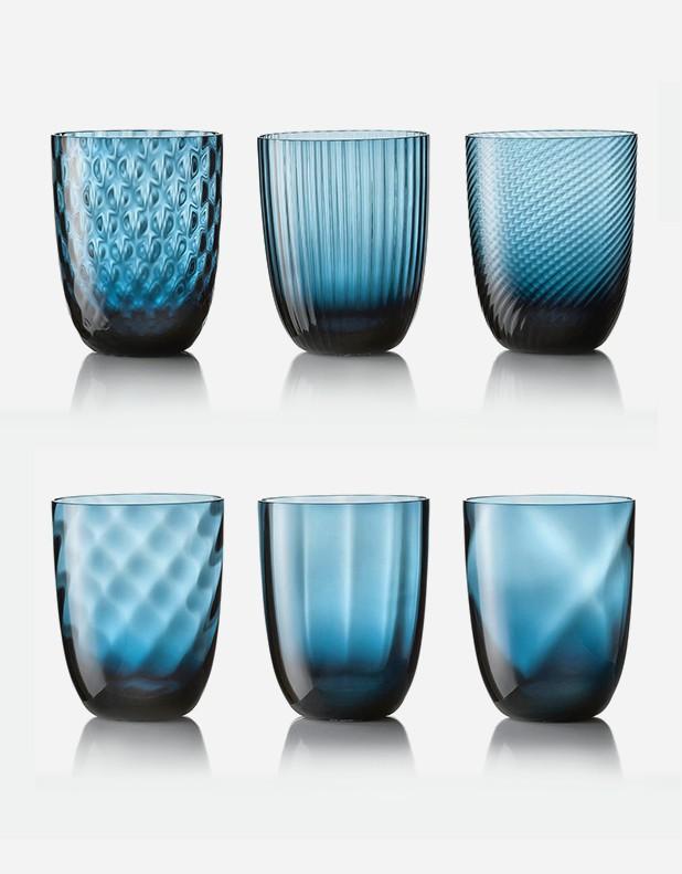 Idra - Set Six Different Patterns - Murano Glass