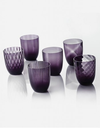 Idra - Set Six Different Patterns - Murano Glass