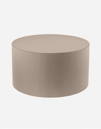 Leather Round Cofee Table on Weels - Made in Italy