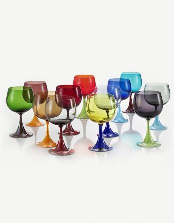 Bicchiere Vino Rosso Burlesque - Vetro di Murano