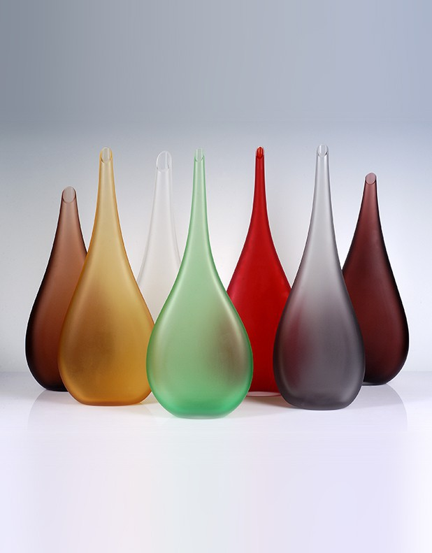 Brina Satinated Vase - Murano Glass