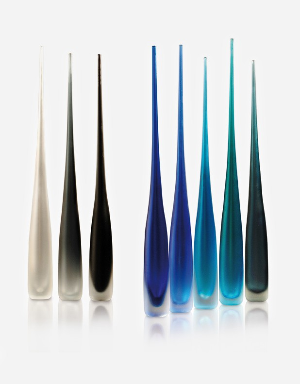 Flute Satinated Vase - Murano Glass