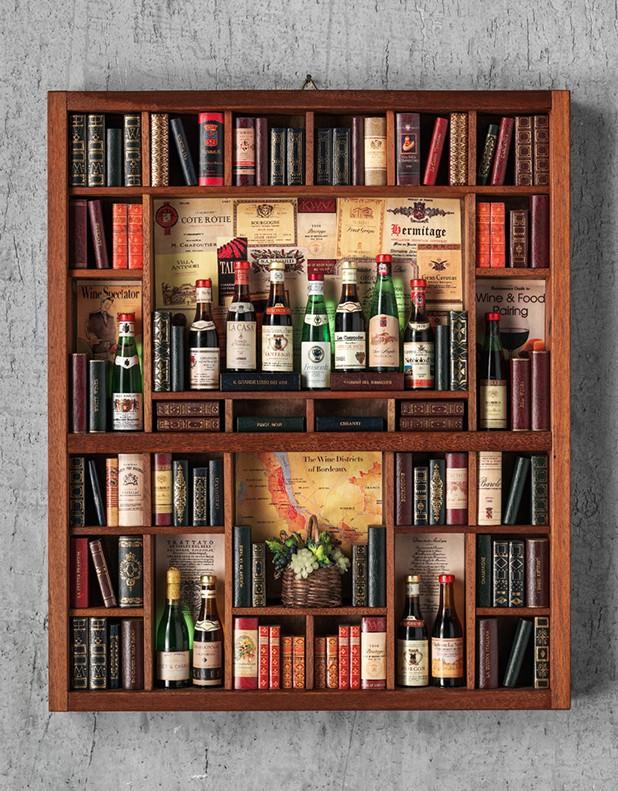 Wine Theme - Miniature Library