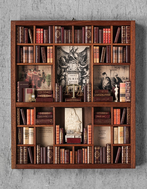 Law Theme - Miniature Library