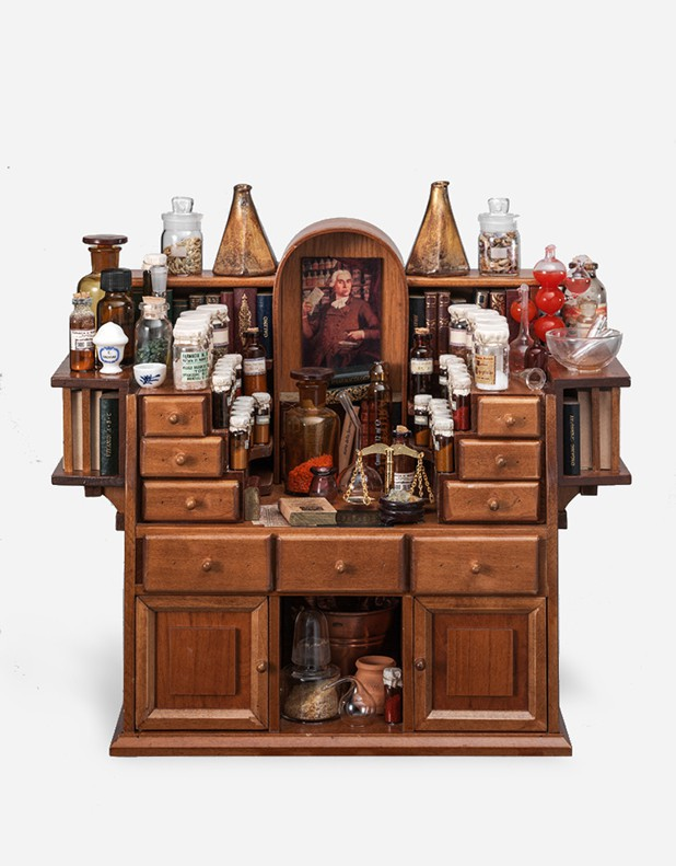 Miniature Curio Cupboard ...