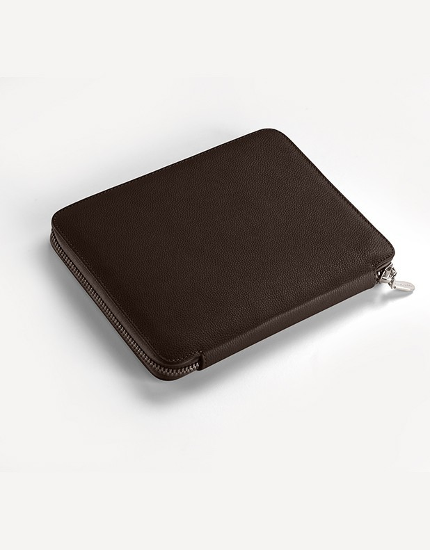 Leather Notebook with Zip