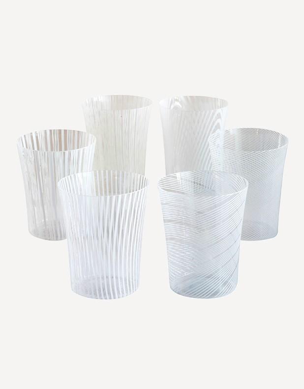 Canova - Six different patterns set - Murano Glass