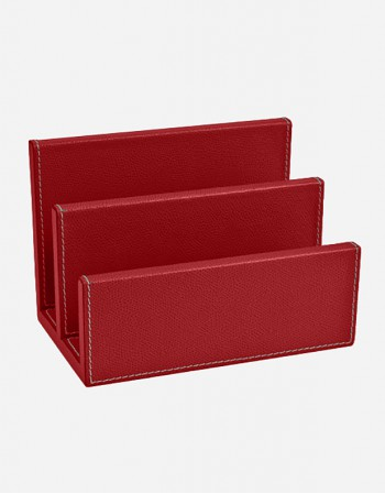 Leather Letter Holder - Made in Italy - Giobagnara