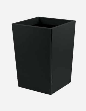 Leather Waste Paper Bin - Made in Italy - Giobagnara