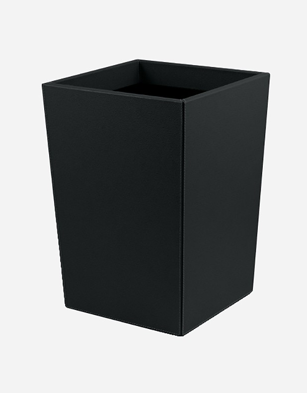 Leather Wastepaper Bin - Handcrafted in Italy