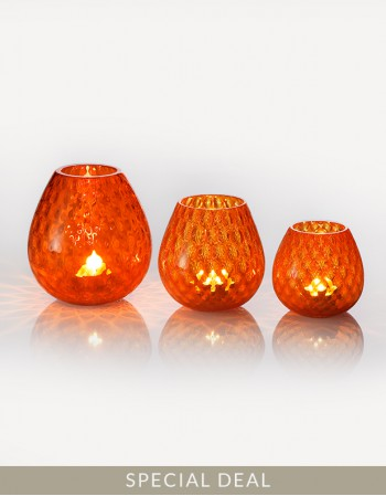 Set Macrame Candle Holder - Murano Glass - NasonMoretti