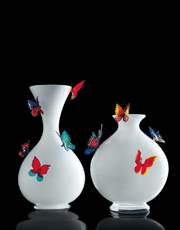Vaso Farfalle - Vetro di Murano - Fornace Mian