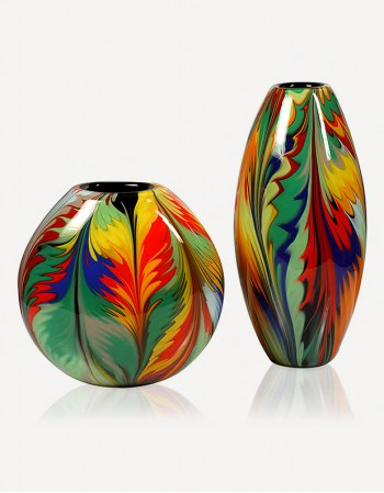 Giungla Vase - Murano Glass - Fornace Mian