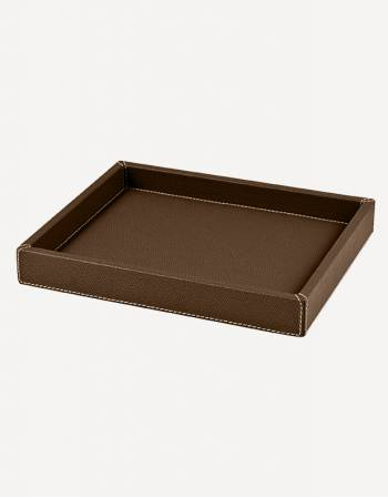"Leather Rectangular ""Soft"" Valet Tray - Made in Italy - Giobagnara"