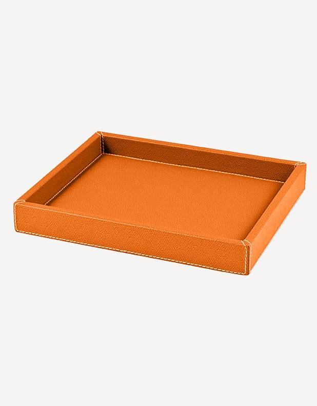 "Leather Rectangular ""Soft"" Valet Tray - Made in Italy - Giobagnara"
