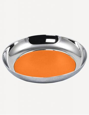 Zurigo Leather Round Valet Tray - Made in Italy - Giobagnara