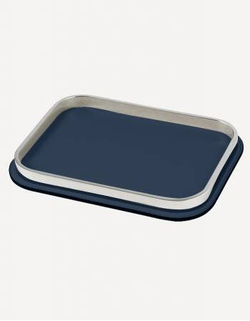 Regis Leather Rectangular Valet Tray - Made in Italy - Giobagnara