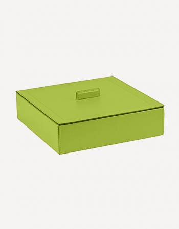 Sally Leather Square Box - Made in Italy - Giobagnara