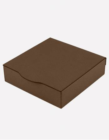 Luna Leather Square Box - Made in Italy - Giobagnara