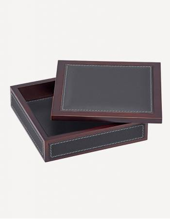 Milano Leather Square Box - Made in Italy - Giobagnara