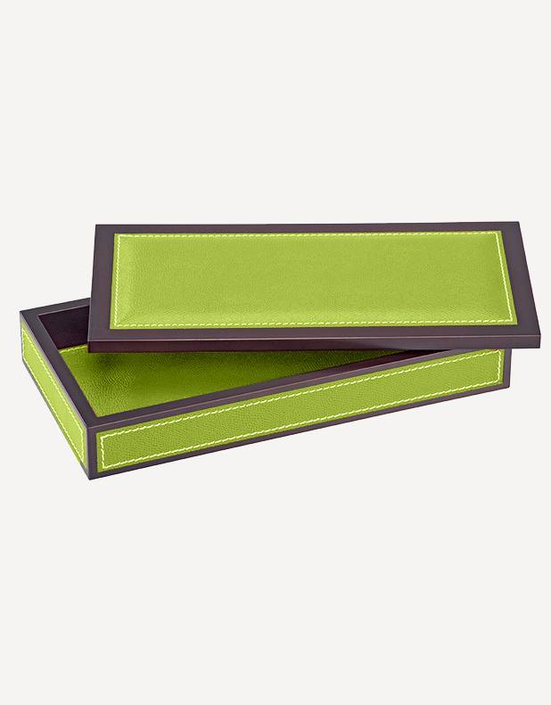 Milano Leather Rectangular Box - Made in Italy - Giobagnara