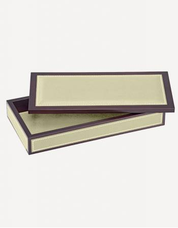 Milano Leather Rectangular Box - Made in Italy - Giobagnara