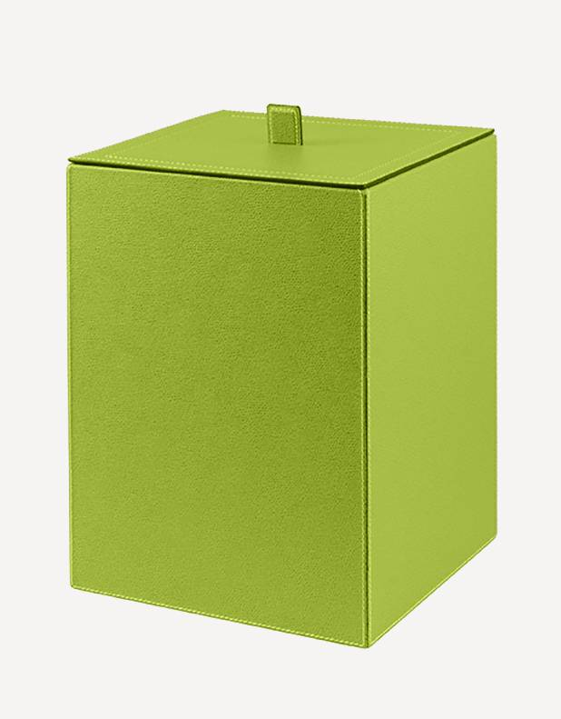 Walter Leather Waste Paper Bin - Made in Italy - Giobagnara
