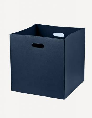 Cubo Leather Square Basket - Made in Italy - Giobagnara