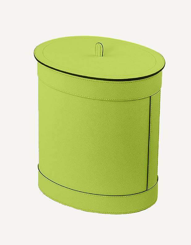 Crosby Leather Waste Paper Bin - Made in Italy - Giobagnara