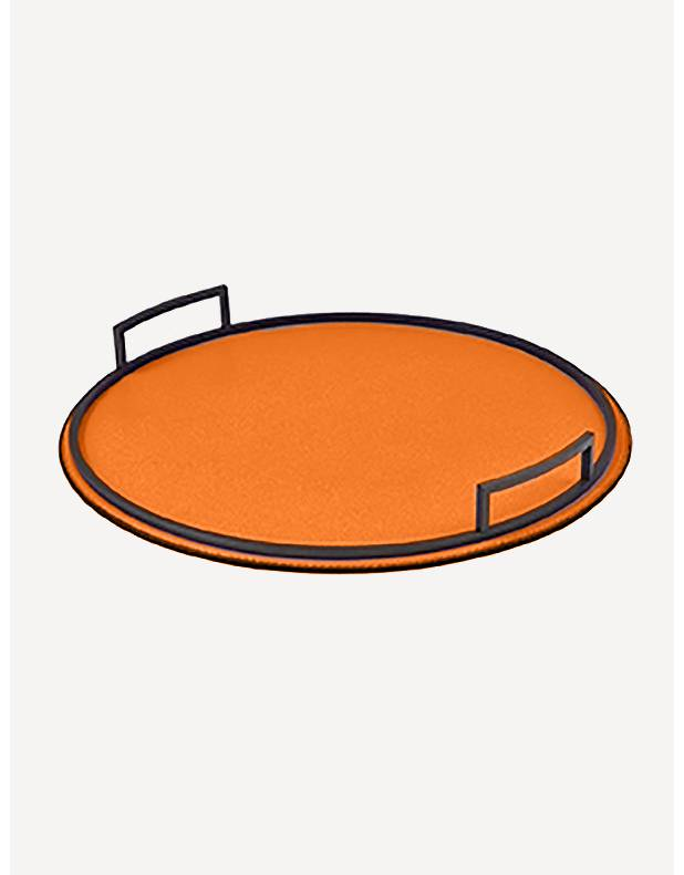 Defile Leather Round Tray - Made in Italy - Giobagnara
