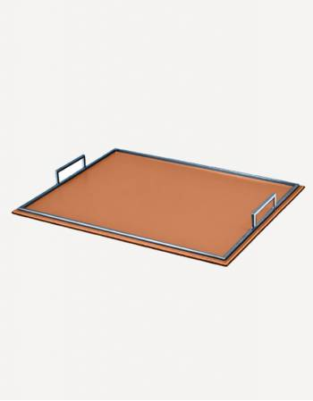 Defile Leather Rectangular Tray - Made in Italy - Giobagnara