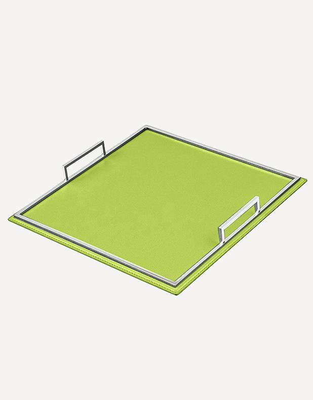 Defile Leather Square Tray - Made in Italy - Giobagnara