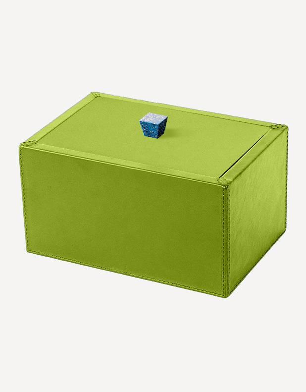 Petra Leather Rectangular Box - Made in Italy - Giobagnara