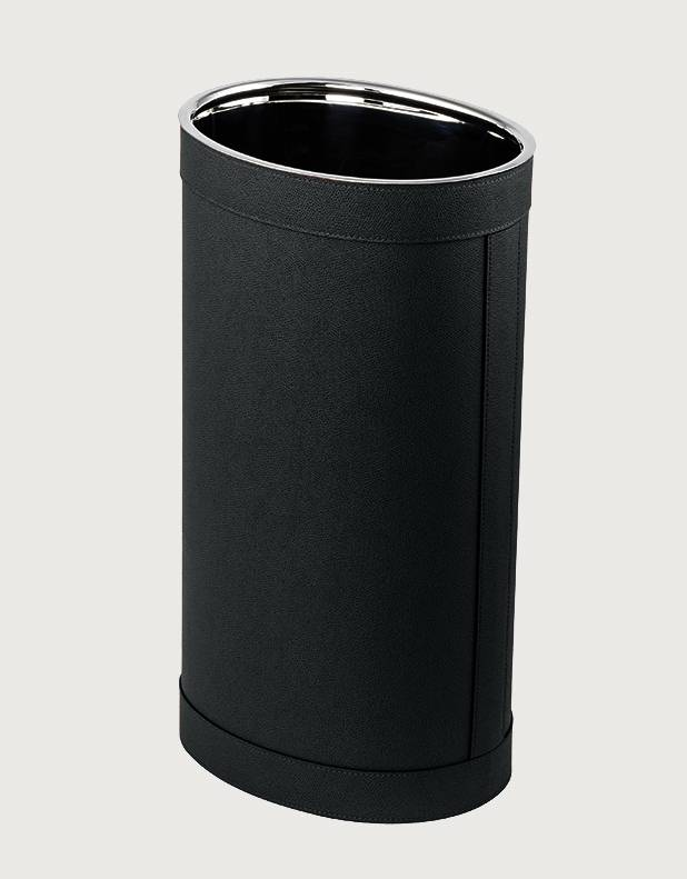 Crosby Oval Leather Umbrella Stand - Made in Italy - Giobagnara